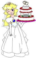 Princess Peach's Wedding Cake by Jago-Mizukami