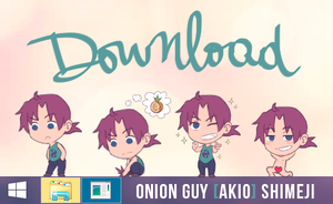 Onion Guy [Akio] Shimeji by SorceressDream