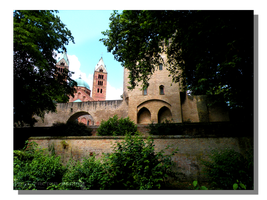 Speyer City Wall and Cathedral by WillFactorMedia