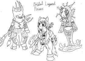 Brutal Legend Ponies by Tracker-Fox