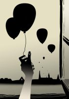 Balloons without hope by Negatic