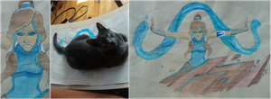 korra and ... my cat by windy98