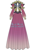 Blue Rose Dress Adopt - CLOSED by vicifashion