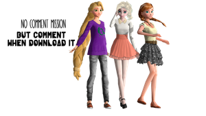 MMD Modern Rapunzel, Elsa and Anna Download by Katsura-chan72