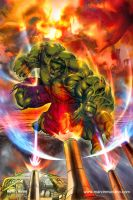 Hulk Smash by marvisionart