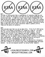 Boycott RIAA Poster by the-sky-is-the-limit