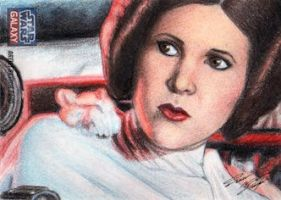 Star Wars G7 - Princess Leia Sketch Art Card 1 by DenaeFrazierStudios