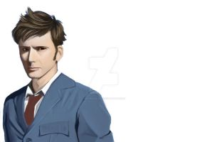 David Tennant WIP by moonsoul1012