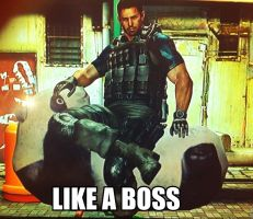 Chris Redfield. LIKE A BOSS. by Gippaloo