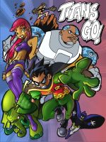 Teen Titans Go Color - WIP3 by jman2004