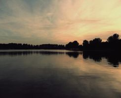 The lake rests quietly by sternenfern
