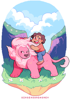 Steven and Lion by Andcetera