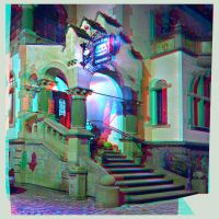 Art Nouveau 3D ::: HDR Anaglyph Stereoscopy by zour