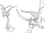 Spyro Lineart ::DID NOT DRAW:: by The-Smile-Giver