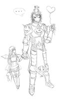 The Protector (Lineart) by arisufae