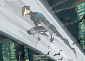 Nightwing by BobbyRubio