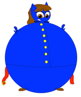 Violet Beauregarde in her inflated blueberry form by Magic-Kristina-KW
