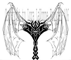 Celtic Folded demon wings by lavonne
