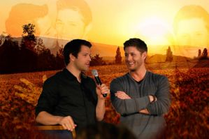 Destiel Wallpaper cause why not by YaoiFanGirl1989