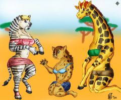 African Plains by Dragon Storm by Nightskymun