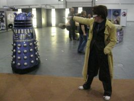 Dalek and The Doctor by LuciaDuvant