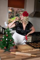 Classic Pin-up-Christmas Day by Papillon-Noir-Art