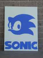 Sonic on Canvas by Lazy-Susan