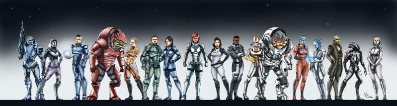 Mass Effect Stars - Fem sheppard version by vitorzago