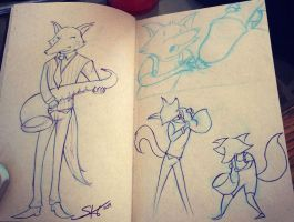 Saxophone Wolf and his Childhood by Space-Jacket