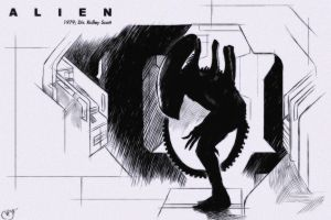 31 Days of Horror: Alien by Deimos-Remus