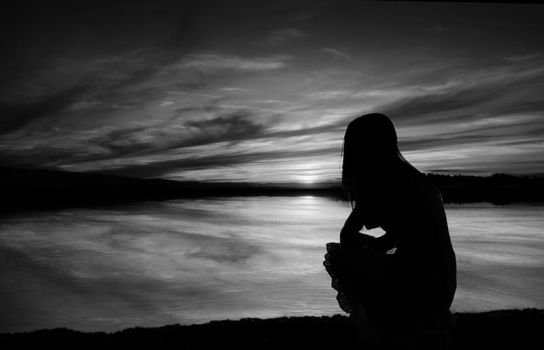 Waiting In Black and White by overcoming-silence