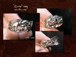 """Crow"" ring by somk"