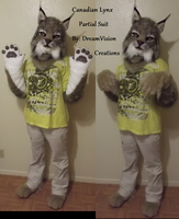 Canadian Lynx partial suit by DreamVisionCreations