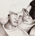 Me and Mah Boy - pencil by Baitti