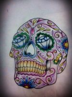 Mexican skull tattoo project by LilithHate