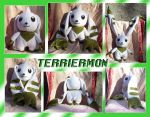 Terriermon Plush by Starshot-seeker
