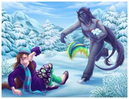 Snowball Fight by DolphyDolphiana