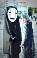 Totoro and No Face~ by kyuu-Q