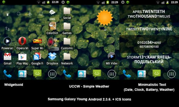 Android Galaxy Y Homescreen by vl2r