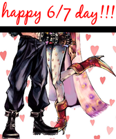 Terra and Cloud Happy 6 7 Day by wounded-melody