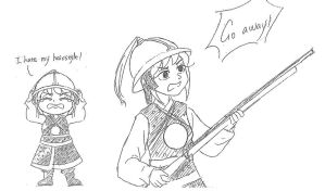 Fem China in military uniform of Ming Dynasty by Love-iz-Evil