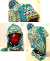 Blue Ear-Flap Hat Gift by moofestgirl