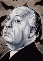Alfred Hitchcock by Christopher-Manuel