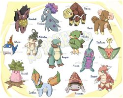 Little Nu Pokemons by Articu