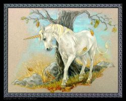 Unicorn - Summer's End by Michelle-JA-McIntyre