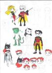 Young Justice Invasion Chibi RAW by AimiisLoveBeautiful