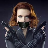 black widow gagged 2 by gaggeddude32