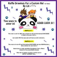 CLOSED -Raffle Drawings For a Custom Hat or item by LiliNeko