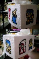 Final Fantasy Tissue Box Cover - Finished Product by Crowbeak