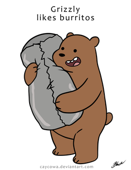 We Bare Bears - Grizzly likes Burritos by caycowa